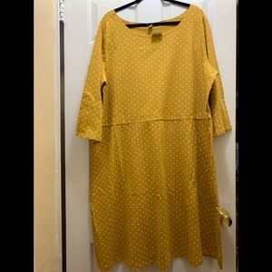 Old Navy high waist jersey knit polka dot dress.